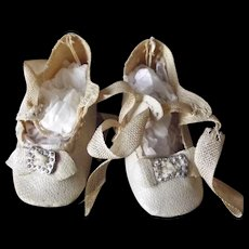 Small Oil Cloth Doll Shoes
