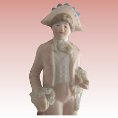 Tiny German Bisque Statue of a Man