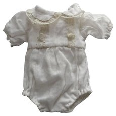 White Romper For A boy Doll