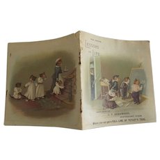 Dame Pussy's School Rare Tiny Book