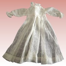 White Net and Lace Dress For Small Doll