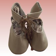 Beige Leather Doll Shoes