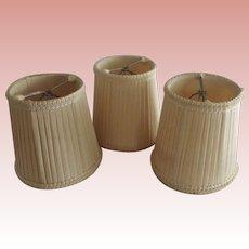 Three Vintage Cloth Lampshades