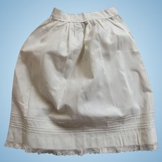 Doll Half Slip With Tucks and Lace