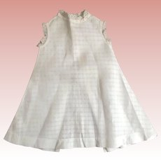 White Coverup For Large Doll or Child