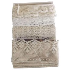 Four Different Early Lace Pieces
