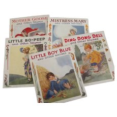 Set of Six Nursery Rhyme Linnenette Books