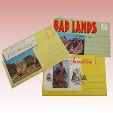 Three U.S. States Postcard Packets