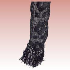 Victorian/Edwardian Black Lace Pieces