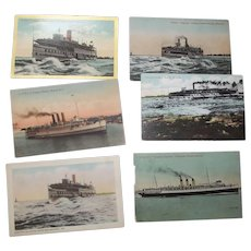 Postcards pf Various Canadian Ships