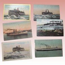 Postcards pf Various Canadian Ships