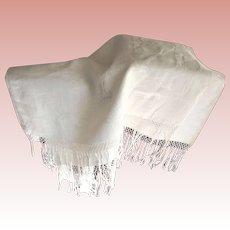 Large Edwardian Towel With Fringe