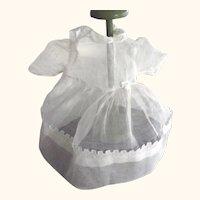 White Organdy Doll Dress