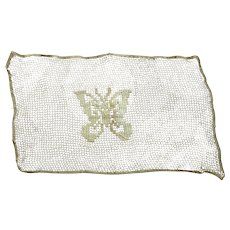 Needlework Piece With Butterfly