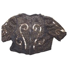 Sequin and Beaded Blouse Circa 1920 or 1930 - Red Tag Sale Item