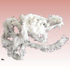 White Cotton Fringe Yardage