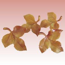 Art Deco Leaf Pinbacks
