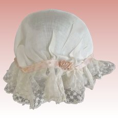 Lacy Mop Cap For Doll