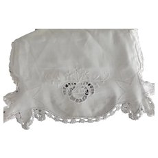 Embroidered Cotton Runner