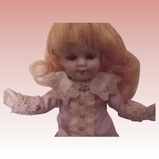 All Bisque German Doll With Original Paper Label