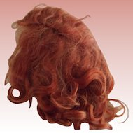 Bright Red Mohair Wig With Bow