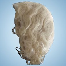Light Blonde Mohair Wig New