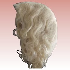 Light Blonde Mohair Wig New