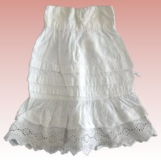 Petticoat For Doll, Tucks and Lace