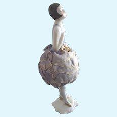 Art Deco Flapper Pincushion Doll With Legs, Original Cushion