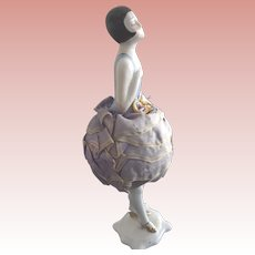 Art Deco Flapper Pincushion Doll With Legs, Original Cushion