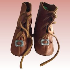Brown Leather Doll Boots