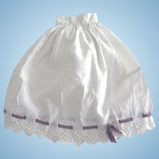 Half Slip For Doll With Eyelet Trim