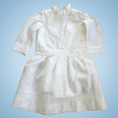 Victorian/Edwardian Child or Large Doll Cotton Dress