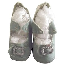 Green Heeled Doll Shoes