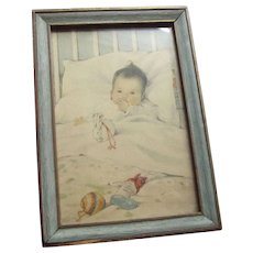 Bessie Pease Gutmann Baby's First Christmas 1910 - Red Tag Sale Item