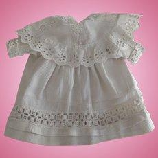 White Doll Dress With Eyelet Trim