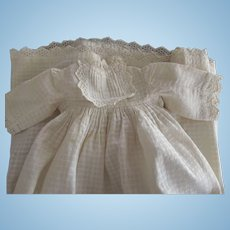 Long Doll Gown With Eyelet Trim For A Small Baby Doll