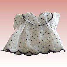 Organdy Dress With Black Dots