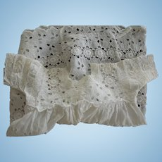 White Eyelet Doll Dress