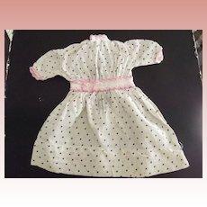 Polka Dot Dress With Pink  Trim