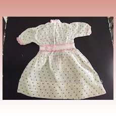 Polka Dot Dress With Pink  Trim