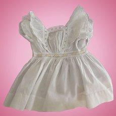 Edwardian Doll Dress With Insertion Eyelet