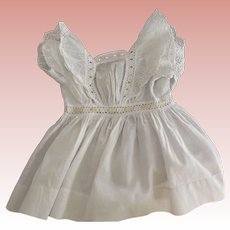 Edwardian Doll Dress With Insertion Eyelet