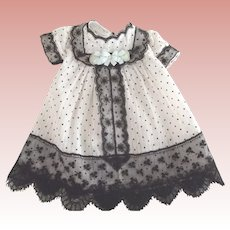 Lace Trimmed Dress For Small Doll
