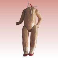 Doll Body With Red Painted Shoes