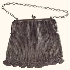 Mesh Flapper Bag, Purse