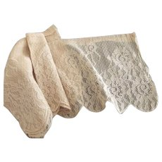 Wide Beige Lace With Scalloped Edge