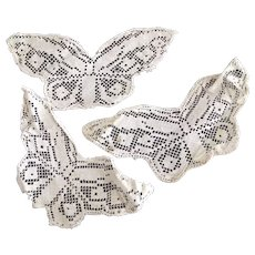 Lace Trim Three Butterflies and Two Others For Doll Clothing orDoilies