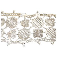Lace With Flowers and Rounds