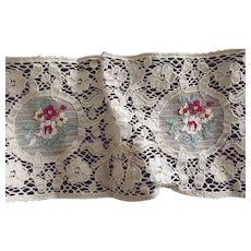 Lace With Inserted Embroidery